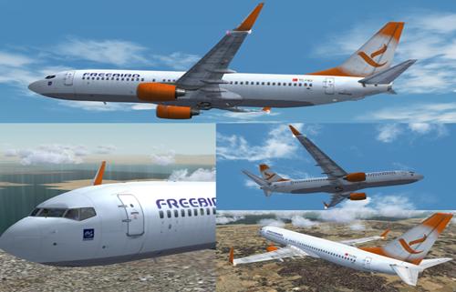 Flight1 File Library System Fs2004 Freebird Airlines 737 800 Tc Fbj