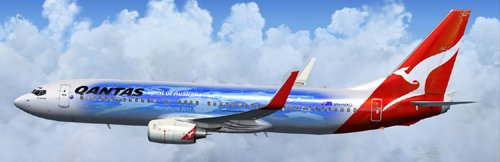 Flight1 File Library System » FSX Qantas B800 Worldflight Livery