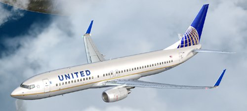 FS9 United Airlines B800