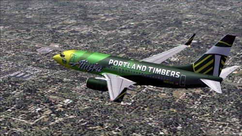 FS9 Alaska Airlines Portland Timbers