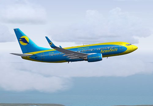 FS9 737-700 Aerosvit livery