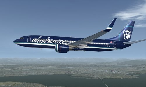 FSX iFly 737-800 Alaska Airlines N548AS alaskaair.com