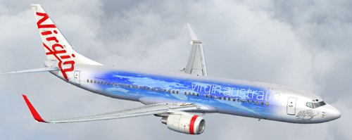  FS9 Virgin Australia Worldflight B800 