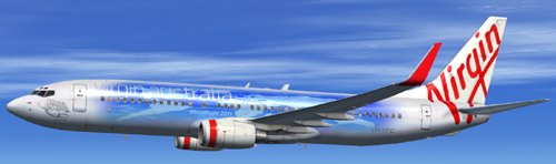  FSX Virgin Australia Worldflight B800 