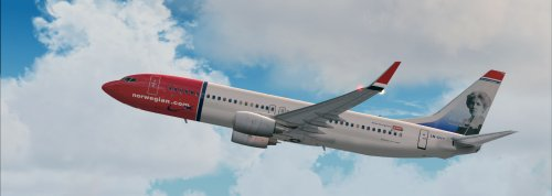 FS9 Norwegian LN-DYV Elsa Beskow 737-800