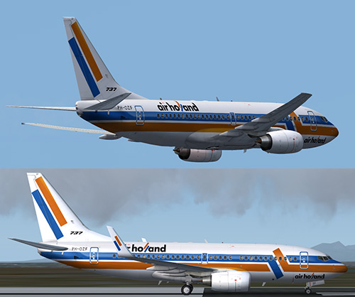 FS9737-700 Air Holland PH-OZF livery
