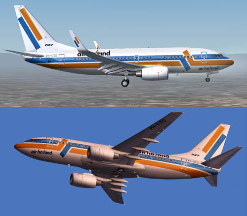 FS9 737-700 Air Holland PH-OZD and PH-OZE livery