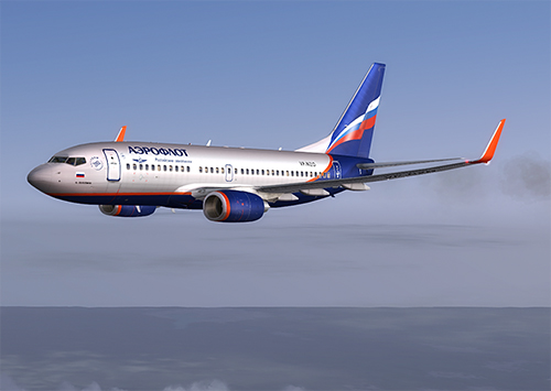 FS9 Aeroflot livery for iFly 737-700