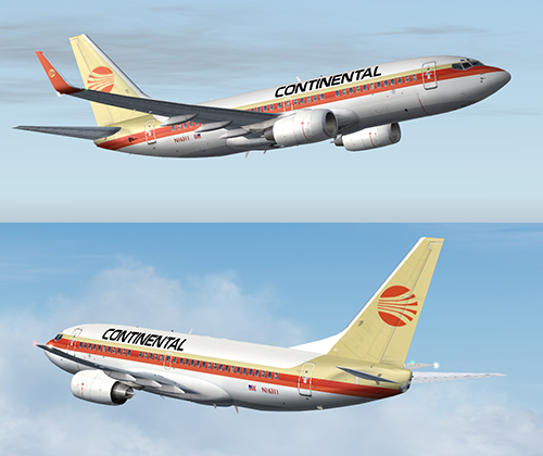 FS9 iFly 737-700 Continental Retro
