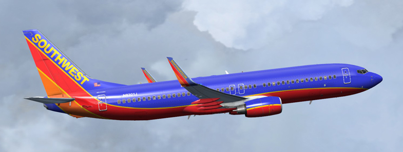 FSX Southwest Airlines B800 N8301J
