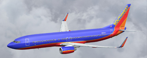 FS9 Southwest Airlines B800 N8301J