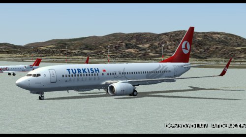 FS9 Turkish Airlines B737-800 TC-JGU