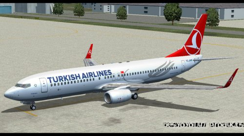 FS9 Turkish Airlines B737-800 TC-JHK.