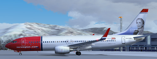 FS9 Norwegian LN-DYN karen Blixen for B737-800w