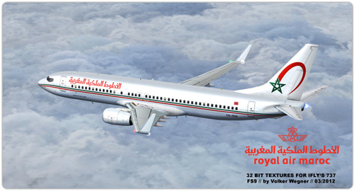 FS9 Royal Air Maroc Boeing 737-800 CN-RGE