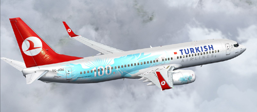 FS9 100th Turkish Airlines B800