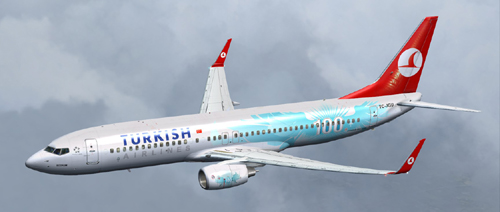 FSX 100th Turkish Airlines B800