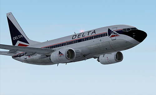FSX B737-700 Delta in old colours
