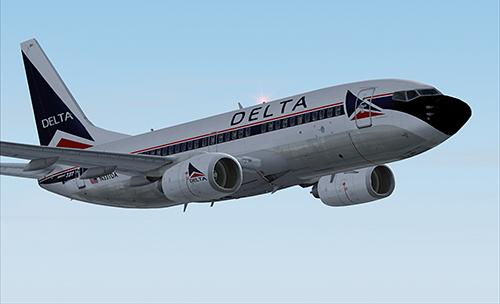 Flight1 File Library System 187 Fsx B737 700 Delta In Old Colours V2