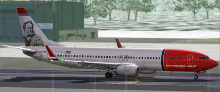 FS9 Norwegian LN-NOG Henrik Ibsen (Dirty Version) B737-800w