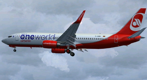 FS9 B737-86J WL Air Berlin oneworld