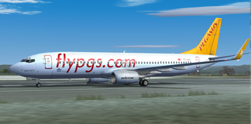 FS9 iFly 737-800 Pegasus Airlines TC-AIS Sevde Nil D.