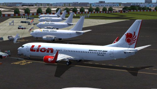 FS9 Lion Air B737-800 PK-LJQ by Gilang Ramadhan.