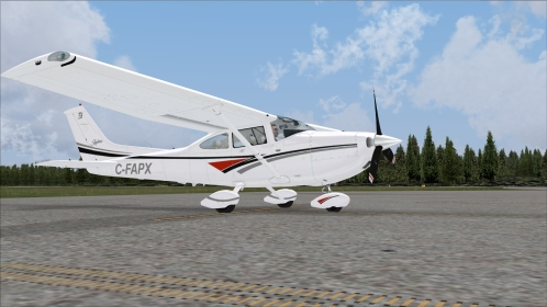 FSX Flight1\'s Cessna 182T Skylane Canadian reg C-FAPX