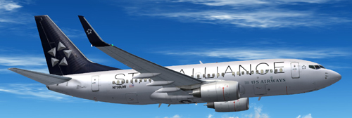  FS9 US Airways Star Alliance B700 