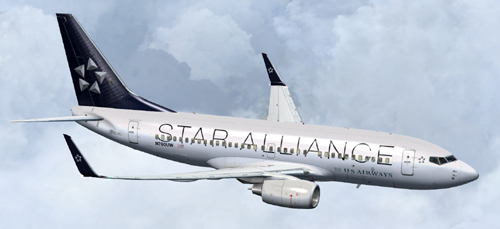  FSX US Airways Star Alliance B700 