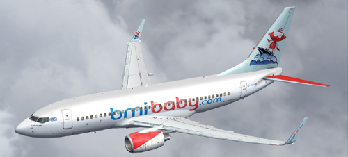 FS9 BMI B700 Surf\'s up baby, with max engines and winglet lighting