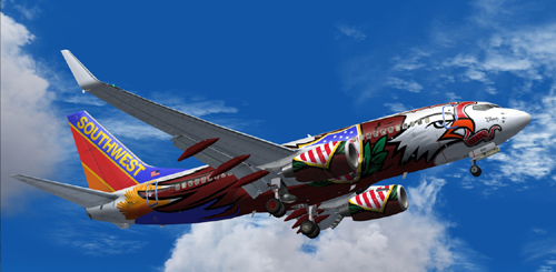 FS9 Southwest B700 Illinois One with or without winglet lighting