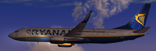 FP FS9 Ryanair B800 with custom airstairs