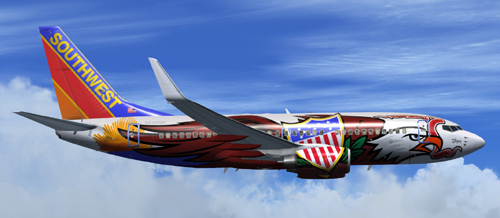 FSX Southwest B700 Illinois One with or without winglet lighting 