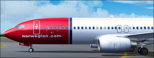 FS9 Norwegian LN-NIA Photoreal for B737-800