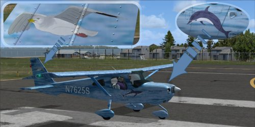 Maritime repaint for Flight1\'s Cessna SkyCatcher C162
