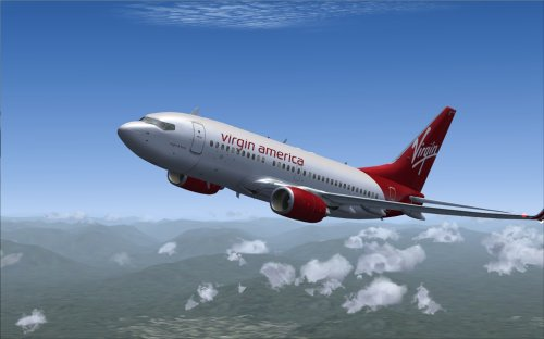 FS9 Ifly FP Virgin America With Custom Airstairs