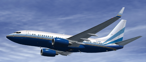 FSX BBJ N108MS 