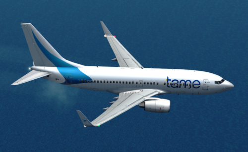 FS9 fictitious paint for B737-700 - TAME Ecuador V1.0