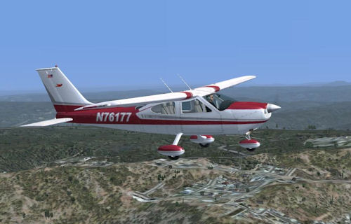 Flight1 Cessna 177B Cardinal in N76177 livery