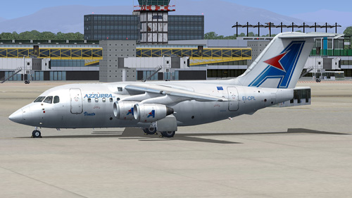  Quality Wings Simulation Azzurra Air AVRO RJ70