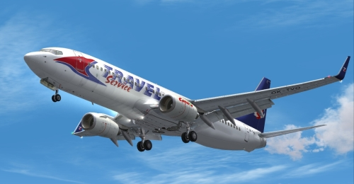 FS9 Travel Service 737-8CX OK-TVO