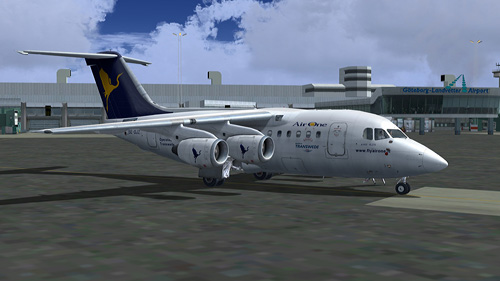  Quality Wings Simulation Avro RJ70 Transwede Airlines