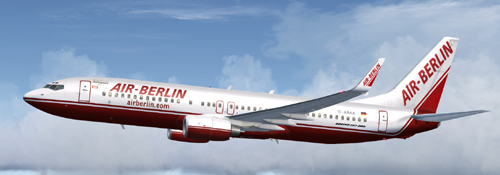 FS9 Air Berlin B800 D-ABAX Old Colors 