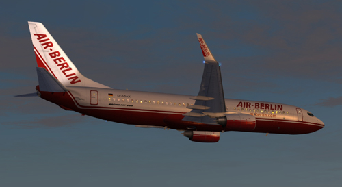 FSX Air Berlin B800 D-ABAX Old Colors 