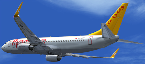  FS9 B737-800 Pegasus Airlines TC-AZP Maya. 