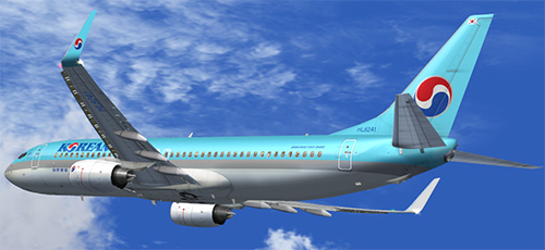 FS9 B737-800 Korean Air HL8241