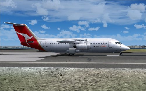 Quality Wings Avro RJ100 QantasLink VH-NJL