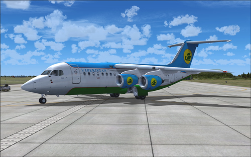 QWings RJ85 Uzbekistan Airways UK80003 FS9