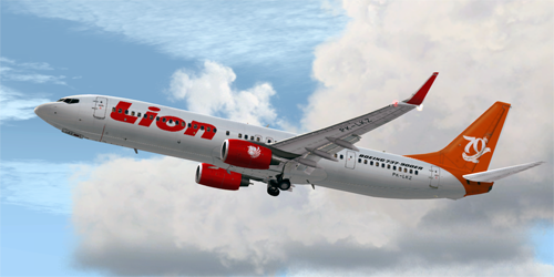 FS9 Lion Air Special 70Th Boeing Next-Generation - PK-LKZ